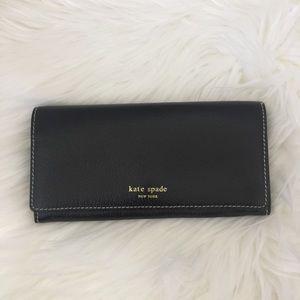 Kate Spade Wellesley Remy Black Flap Wallet.